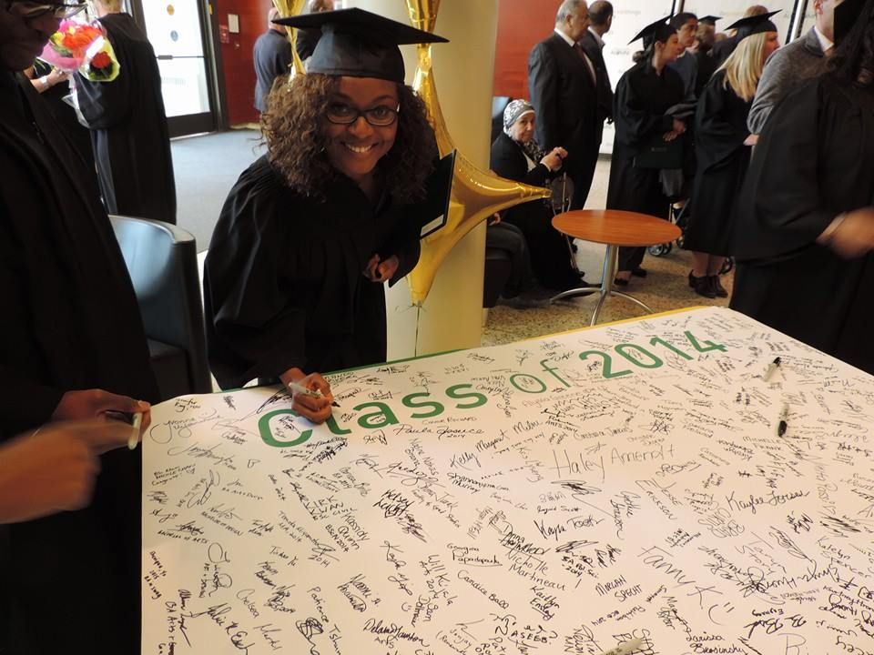 A Nigerian lady graduates from a Canadian School